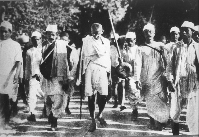 Gandhi on a a peace march