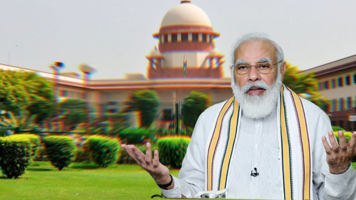Supreme Court had directetd the National Informatics Centre (NIC) to remove the photo of Prime Minister Narendra Modi and the slogan from its email footers The SC said instead of the PM's photo the email footer should carry an image of the apex court.